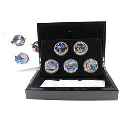 RCM Issue: 2016 Canada $20 Geometry In Art 5-coin Set in Deluxe Display Case (outer sleeve has small