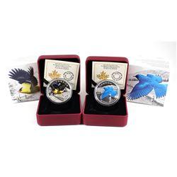 RCM Lot: 2016 Canada $20 Migratory Birds Fine Silver Coins - The Mountain Bluebird & The American Go