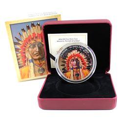RCM Issue: 2016 Canada $50 Wanduta Portrait of a Chief 5oz. Fine Silver Coin (capsule lightly scratc