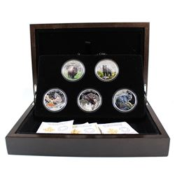 RCM Issue: 2016 Canada $20 Majestic Animals 5-coin Set in Deluxe Display Case (TAX Exempt)