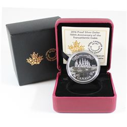 RCM Issue: 2016 Canada Transatlantic Cable Anniversary Proof Silver Dollar (TAX Exempt)