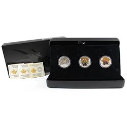 RCM Issue: 2016 Canada $10 Day of the Dinosaurs Fine Silver 3-coin Fine Silver Set (TAX Exempt)