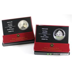 RCM Issue: 2005 & 2007 Canada $20 Tall Ship Fine Silver Coins (Tax Exempt). You will receive the 200