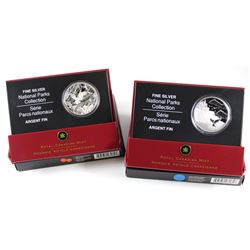 RCM Issue: 2005 Canada $20 National Parks - Mingan Archipelago & Pacific Rim Fine Silver Coins (Tax