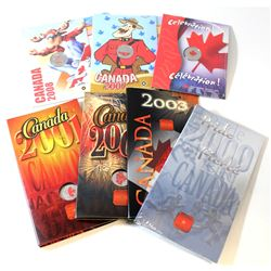 RCM Issue: 2000-2008 Canada Day Coloured 25-cent Lot. You will receive the following, 2000 Pride, 20