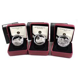 RCM Issue: 2008 Canada $20 Royal Hudson, 2010 Canada $20 Selkirk, 2011 Canada $20 D-10 Fine Silver C
