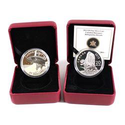 RCM Issue: 2013 Canada $20 Bathygnathus Borealis & 2015 Canada $20 Rainbow Trout Fine Silver Coins (