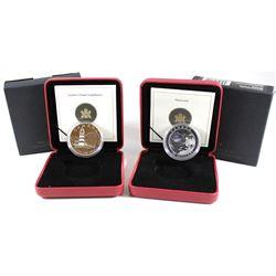 RCM Issue: 2004 Canada $20 Sambro Island & 2004 Canada $20 Northwest Territories Diamonds Fine Silve