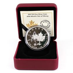 RCM Issue: 2017 Canada $5 ANA World's Fair of Money Denver Fine Silver (no outer cardboard sleeve).