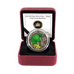 RCM Issue: 2010 Canada $20 Maple Leaf Crystal Raindrop Fine Silver Coin. Comes encapsulated in red R