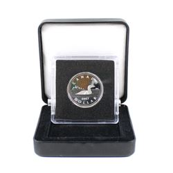RCM Issue: *SCARCE* 2007 Canada Sterling Silver Loon Dollar Taken from the 2007 Wedding Set with Ext