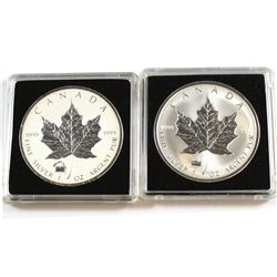 RCM Issue: 1998 & 2012 Canada $5 Titanic Privy Fine Silver Maple Leafs (Tax Exempt). Please note 201