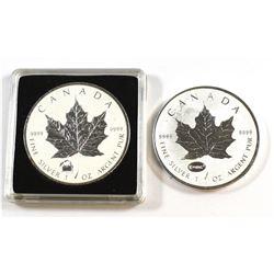 RCM Issue: 2012 Titanic & 2015 Canada $5 E=MC2 Privy Mark 1oz .9999 Fine Silver Maple Leafs (toned).
