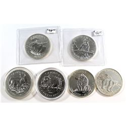 RCM Issue: All 6x 2011-2013 Canada $5 Wildlife Series 1oz .9999 Fine Silver Coins. This lot includes