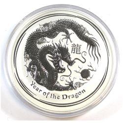Perth Mint: 2012 Australia $10 Dragon 10 oz. .999 Fine Silver Coin (TAX Exempt) - scuffed capsule, c