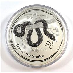 Perth Mint: 2013 Australia $10 Snake 10 oz. .999 Fine Silver Coin (TAX Exempt) - scuffed capsule, co