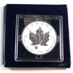 RCM Issue: 2011 Canada F15 Privy Mark $5 Silver Maple Leaf in original capsule from the Mint. Coin i