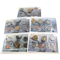 RCM Issue: 1994-1998 Canada Uncirculated Proof Like sets. You will receive the 1994, 1995, 1996, 199