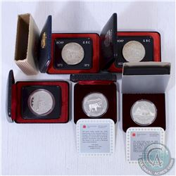 RCM Issue: Estate Lot of 5x Canada Commemorative Cased Dollars. This lot includes the 1973 Silver Do