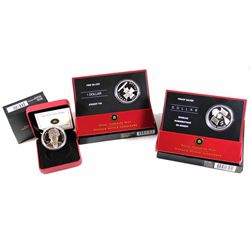 RCM Issue: 2005, 2006 & 2007 Canada Proof Commemorative Silver Dollars (Tax Exempt).  Coins come wit