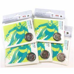 RCM Issue: 5x SCARCE! 2008 Mule 25-cent Alpine Skiing Petro-Canada Olympic Card. 5pcs