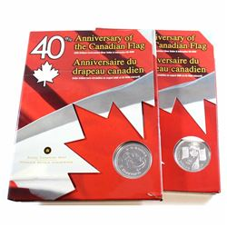 RCM Issue: 2x 2005 Canada Uncirculated Dollar with Interactive CD-ROM (TAX Exempt). Capsule is light