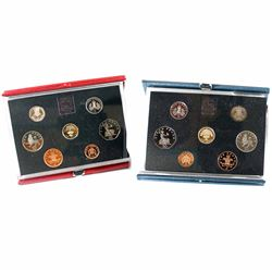 Royal Mint: 1985 & 1987 United Kingdom 7-coin Proof sets. Coins come with all original mint packagin