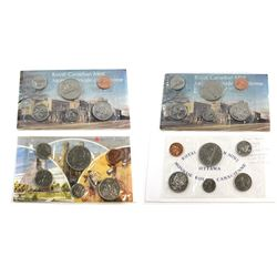 RCM Issue: Error 1968, 1975,1977 & 1981 Canada Proof-like Uncirculated Sets with Various mint errors