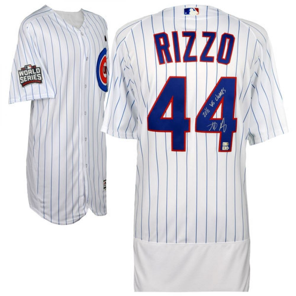 online retailer ea40d 9968d Anthony Rizzo Signed Cubs 2016 World Series Authentic ...