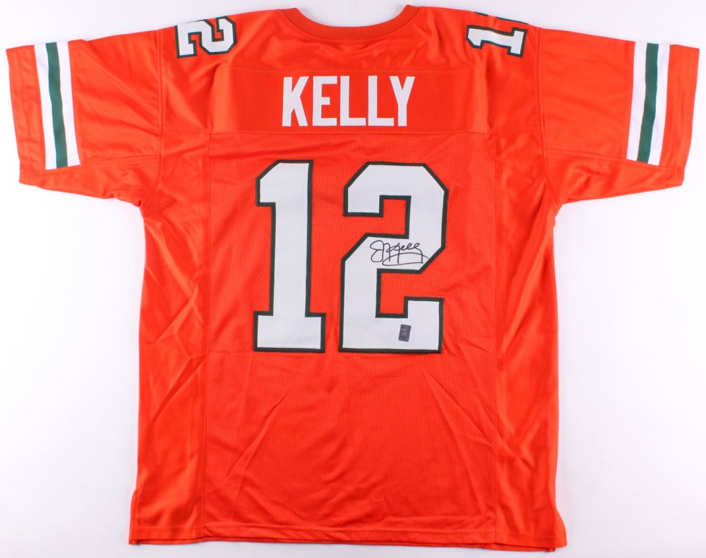 pretty nice 5c107 7f0d7 Jim Kelly Signed Miami Hurricanes Jersey (Kelly Hologram)