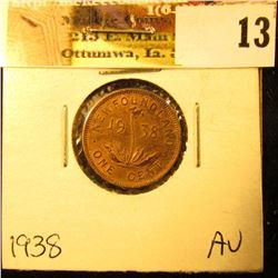 1938 Newfoundland Cent, AU.