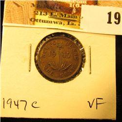 1947C Newfoundland Cent, VF.