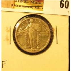 1920 P U.S. Standing Liberty Quarter, Fine.