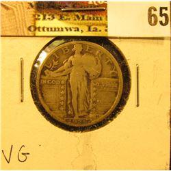 1925 P U.S. Standing Liberty Quarter, VG.