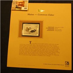 2000 Millenium Maine $2.50 State Migratory Waterfowl Stamp, mounted in a plastic page with literatur