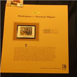 2000 Millenium Washington $6.00 State Migratory Waterfowl Stamp, mounted in a plastic page with lite