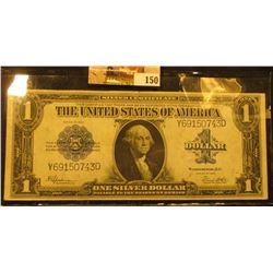 Series 1923 $1 Silver Certificate, S/N Y69150743D, Signed Speelman/White, Blue Seal, Friedberg # 237