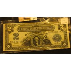 Series 1899 Two Dollar Silver Certificate, S/N N22138747, Friedberg # 256, VF.
