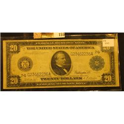 "Series 1914 with Blue Seal Twenty Dollar Federal Reserve Note ""Chicago, Illinois"", Friedberg # 990,"