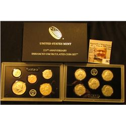 2017 S 225th Anniversary Enhanced Uncirculated Coin Set in Original box,