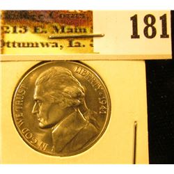 1941 S Jefferson Nickel, Superb Gem BU.