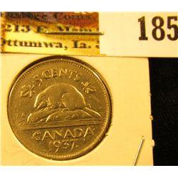 1937 Canada Nickel, EF.