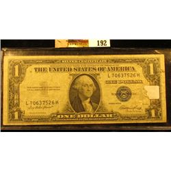 Series 1935E U.S. One Dollar Silver Certificate. Circulated.