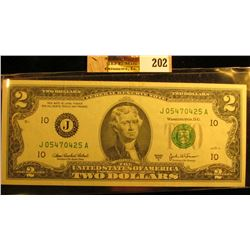 Series 2003A U.S. Two Dollar Federal Reserve Note. Crisp Uncirculated.