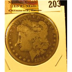 1884 P U.S. Morgan Silver Dollar.