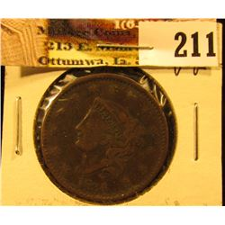 1834 U.S. Large Cent, VG. Slight bend.