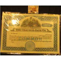 "Number 455 Unissued Stock Certificate ""The Cracker Jack Co…State of Illinois"", central vignette of W"