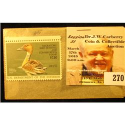 1986 RW 53 Federal Migratory Bird Hunting $7.50 Stamp, unsigned, original gum, NH, VF.