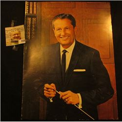 Lawrence Welk advertising Brochure with three autographs including Lawrence Wilk, Myron, & Joe Finny