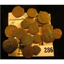 (19) Different Roman Copper Coins. None identified at this time.
